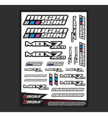 Sticker Sheet Mugen MBX-7 Eco
