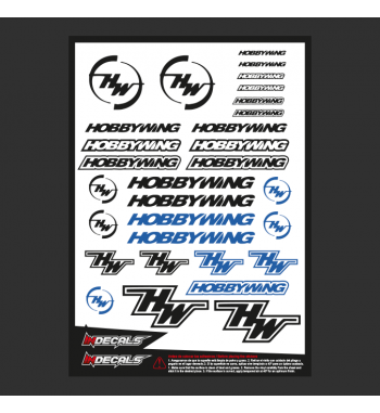 Sticker Sheet HobbyWing