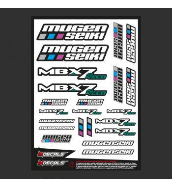 Pliego Pegatinas Mugen MBX-7eco