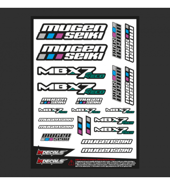 Sticker Sheet Mugen MBX-7eco