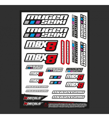 Sticker Sheet Mugen MBX-8nitro