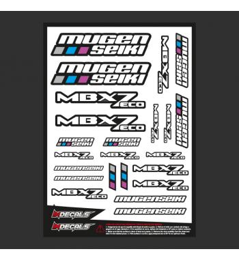 Pliego Pegatinas Mugen MBX-7 Eco