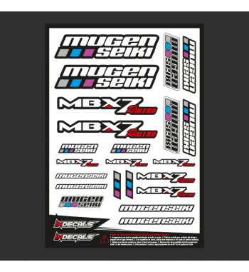 Pliego Pegatinas Mugen MBX-7nitro
