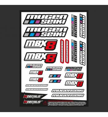 Pliego Pegatinas Mugen MBX-8nitro