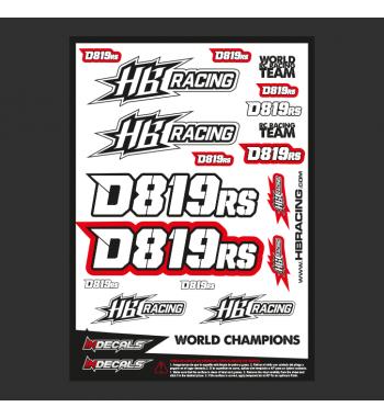 Pliego Pegatinas HB Racing D819rs