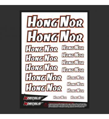 Pliego Pegatinas Hong Nor