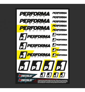 Pliego Pegatinas Performa P1